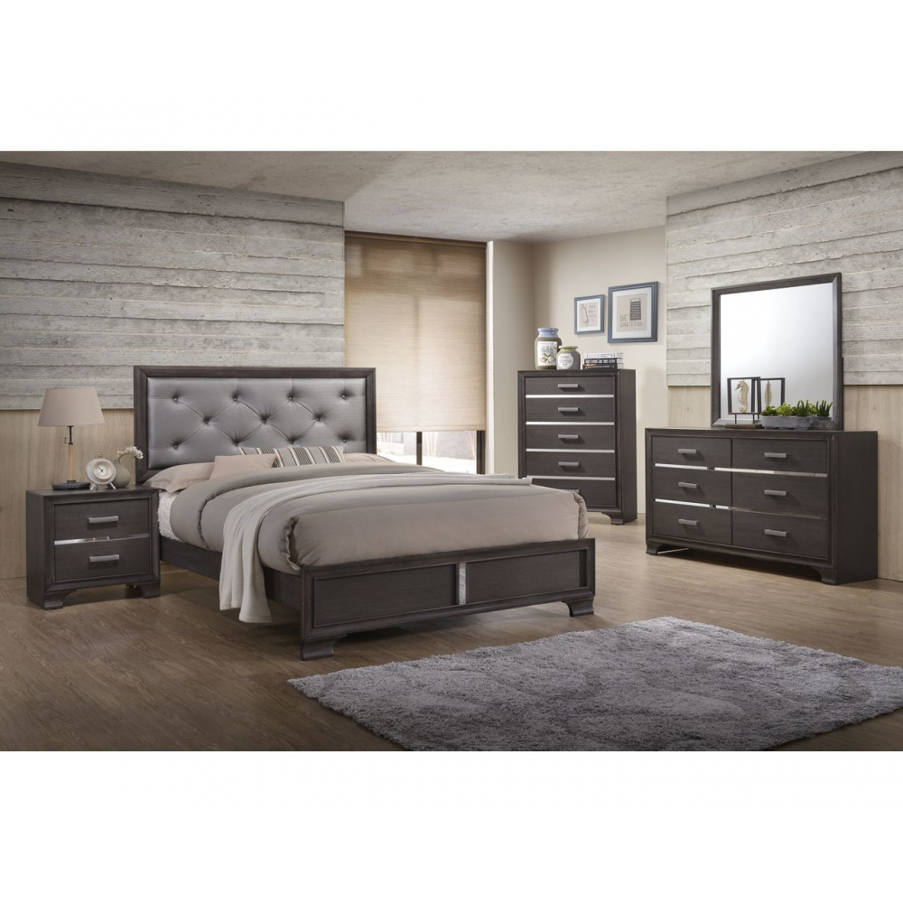 Le Michele Bedroom Suite Washed Grey