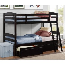 Jefferson Twin/Twin Bunk bed Espresso