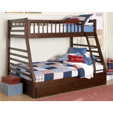 Mesa Twin/Double Bunkbed Brandy