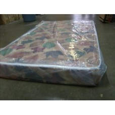 Single foam mattress with cover