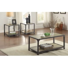 Industrial Coffee and End Table Set