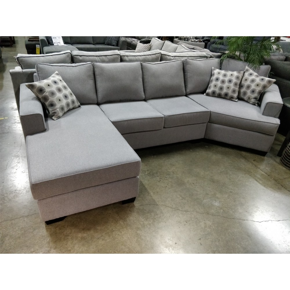 Mission Fabric Sectional With Cuddle Corner