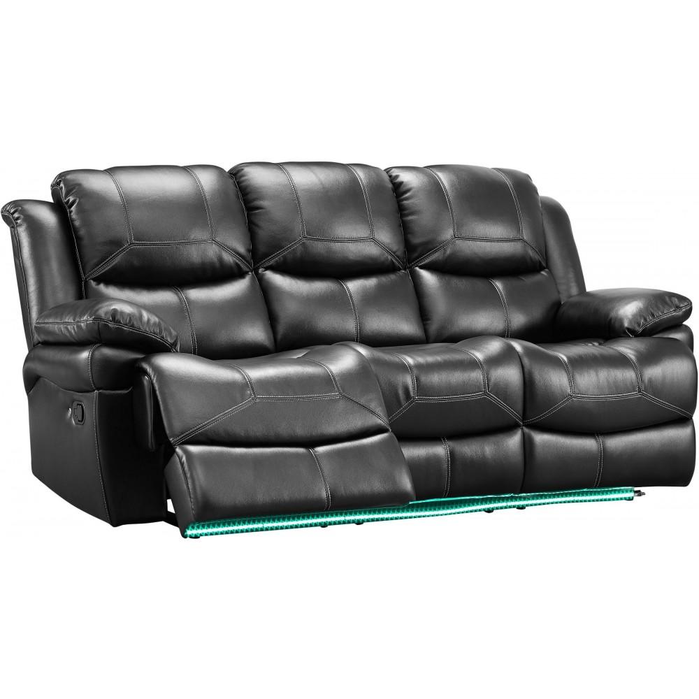 Flynn Leather Gel Power Reclining Sofa Love